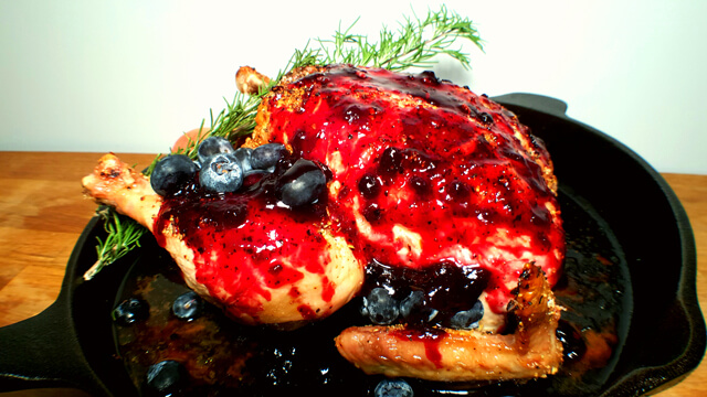 Blueberry Glazed Roasted Chicken